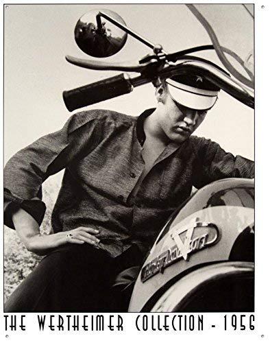 Unoopler Elvis Presley Motorcycle Harley Davidson Wertheimer Collection Retro Vintage Tin Sign -