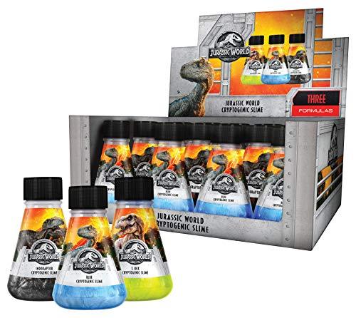 Kangaroo 12 Pack Slime Toy (Jurassic World Slime), Dinosaur Slime, Trex, Velociraptor Blue and Indoraptor Cryptogenic Slime, 5 OZ Bottles, Jurassic World Fallen Kingdom Girls or Boys Slime