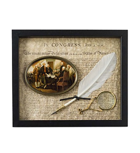 American Independence Shadow Box - Declaration of Independence 12.75 W x 11 H x 1.25 D by Wind & Weather®