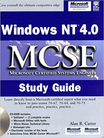 windows nt 4 0 mcse study guide mcse certification alan r