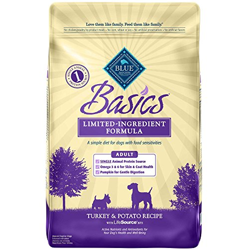 Blue Buffalo Basics Dry Dog Food, Turkey and Potato Recipe, 11-Pound Bag
