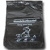 2000 Stück Hundekotbeutel 21x32+3,5 cm - zu 100 Stück geblockt - Der Umwelt zuliebe aus 100% Recycling Material!