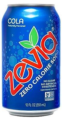 Zevia Zero Calorie Soda, Cola, Naturally Sweetened, (Pack of 24) from Zevia
