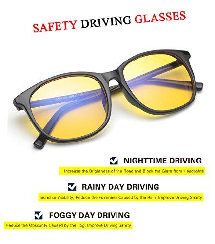 b30df141d7 HD Night Driving Glasses for Men Women Anti-glare Safety Glasses ...