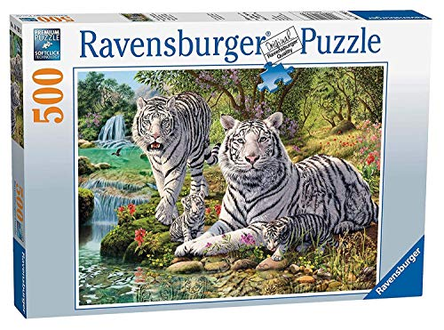 - Ravensburger White Tigers 500pc Jigsaw Puzzle