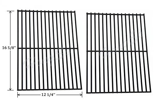 Bbq Grate (Hongso PCB932 Porcelain Steel Centro, Charbroil, Front Avenue, Fiesta, Kenmore, Kirkland, Kmart, Master Chef, and Thermos Gas Grill Cooking Grid/Cooking Grates Replacement, Sold As A Set of 2)