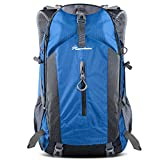 OutdoorMaster Hiking Backpack 50L - Hiking & Travel Backpack w/Waterproof Rain Cover & Laptop Compartment - for Hiking, Traveling & Camping - Blue