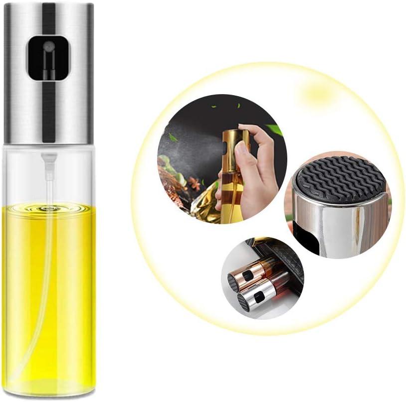 POTALL Olive Oil Sprayer Bottle, Oiler Transparent, Food Grade Portable Spray Bottle, Oil Sprayer for Cooking, Olive Oil Dispenser Bottle, Cooking Spray, Glass Oiler Portable Spray Bottle
