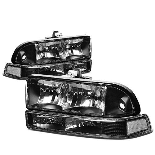 Chevy S10/Blazer GMT 325/330 Replacement Headlight Assembly Kit (Black Housing) (Blazer Headlight S10 Chevy)