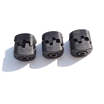 Black Color 2 Pack Archery Compound Bow Fastener Buckle Drop Fall Away Arrow Rest Clip Clamps Plastic