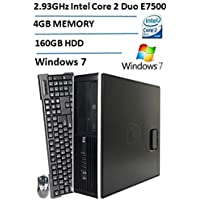 HP 4000 Pro Small Form Factor Desktop, Intel Core 2 Duo E7500 2.93GHz Processor, 160GB HDD, 4GB DDR3 RAM, DVD-ROM, Gigabit Ethernet, Windows 7 Professional (Certified Refurbished)