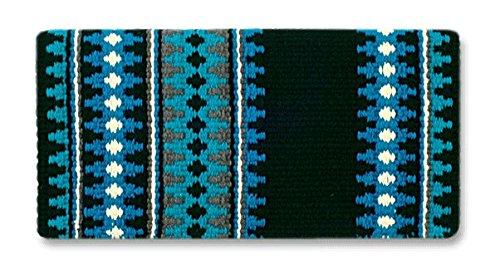 Show Saddle (Mayatex Catalina Saddle Blanket, Black/Show Turquoise/Soft Turquoise/Cream, 38 x 34-Inch)