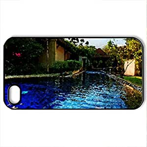 The Beauty of Poolside - Case Cover for iPhone 4 and 4s (Watercolor style, Black)
