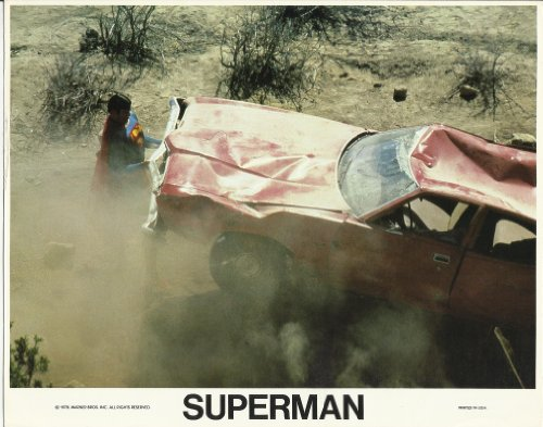 Superman Christopher Reeve 8 x 10 inch Lobby Card lifting up car