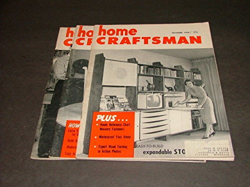3 Iss Home Craftsman Oct,Dec '58; Feb '59 Winterproof, Storm Sash, Carving ()