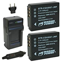 Wasabi Power Battery and Charger Kit for Panasonic Lumix CGA-S007, CGA-S007A, CGA-S007A/1B, CGA-S007E, DMW-BCD10, DMC-TZ1, DMC-TZ2, DMC-TZ3, DMC-TZ4, DMC-TZ5, DMC-TZ11, DMC-TZ15, DMC-TZ50