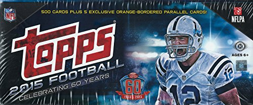 2015 Topps NFL Football Factory Sealed Set Hobby Version Which Includes a Bonus Pack of 5 EXCLUSIVE Orange Bordered Cards