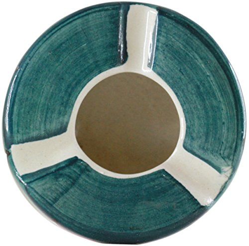 SouvNear Ashtray with 3 Cigarette Holder Slots Colorful Ceramic Ash Tray Office Bar Indoor Outdoor - Deals of the Day by SouvNear (Image #2)