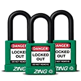ZING 7066 RecycLock Safety Padlock, Keyed Alike,1-1/2