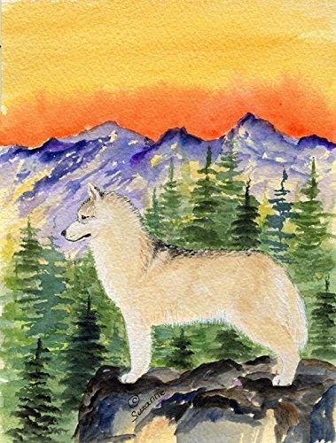 Caroline's Treasures SS8285CHF Siberian Husky Flag Canvas...