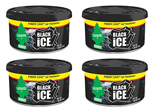 Car Freshner UFC-17855-24 Little Trees Black Ice Fiber Can A