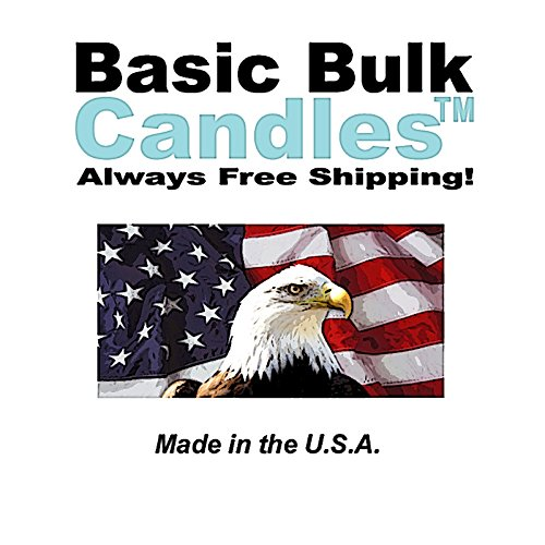BBC Unscented Candles, Ivory Taper Candle 12 Inch, Set of 144 by BasicBulkCandles