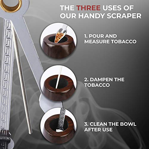 Tobacco Pipe   Pipes for Smoking Tobacco   Stylish, Cool and Distinguished Starter Pipe Kit   The Perfect Gift for a Classy Gentleman by Smokey Hollow Co by Smokey Hollow (Image #6)