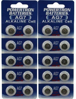 Powertron 30 AG7 LR926 395 195 LR57 LR927 Battery USA Ship Retail Cards