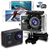 Indigi WiFi Action Cam Sport DV Outdoor Video Recorder w/ Waterproof Case + Mounting Accessories + WiFi Sync (Full HD 4K + 1080p + 720p)
