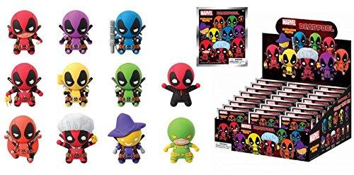Marvel(マーベル) Deadpool(デッドプール) 3Dフィギュラルキーリング(コレクターキーリング) SERIES 2 ブラインド仕様 24パック入りBOX販売 [並行輸入品] B06XD3244V