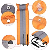 Orange Color BlueField Outdoor Mat Automatic Inflatable Camping Mat Pad Mattress Self-Inflating Moistureproof Tent Folding Mat with Pillow