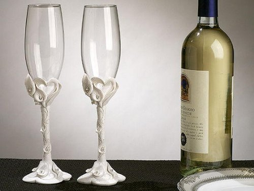 Calla Lily Toasting Glasses - 9