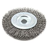 Forney 72742 Wire Wheel Brush, Coarse Crimped with 1/2-Inch Arbor, 4-Inch by .012-Inch