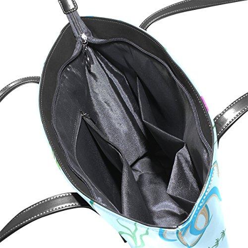Per Donne E Tracolla Modello A Della Octopus Medio Le Bag Tote Leather Muticolour Borse Borsa Coosun Pu 867nxYx
