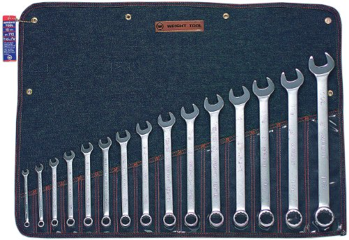 - Wright Tool 715 12 Point Combination Wrench Set, 5/16