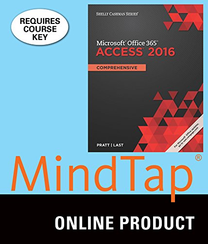 MindTap Computing for Pratt/Last's Shelly Cashman Series Microsoft Office 365 & Access 2016: Comprehensive, 1st Edition