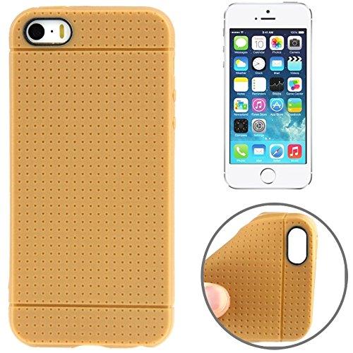 Mxnet Dots Pattern TPU Case für iPhone 5 & 5s & SE & SE rutschsicher Telefon-Kasten ( Color : Brown )