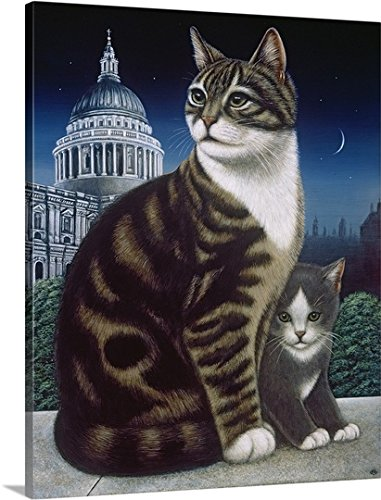 Faith, the St. Pauls Cat, 1995 (oil and tempera on panel) Gallery-Wrapped Canvas by greatBIGcanvas