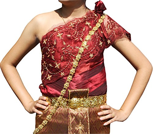 Full Funk Heavy Metal Linked Chain Necklace Sash Thai Dance Wedding Sets, Adjustable, Gold - Stellar Jewel