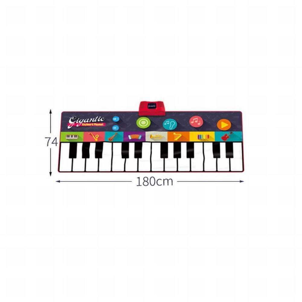 GZ Juguete Musical Estera para Piano, Teclado para Piano Enorme, Estera para Piano para Niños, Juego de Baile para Fiestas, Música Divertida para Niños,UNA ...
