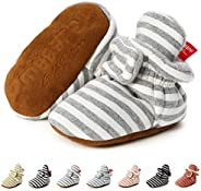 YWY Unisex-Baby Newborn Baby Boys Girls Booties Boots Socks Pre-Walkers Crib First Walkers Warm Cotton Booties