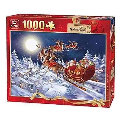 King 5601 Slitta Di Babbo Natale Puzzle Da Pezzi 49 X 68 Cm