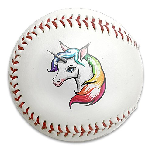 Soft Baseball Reduced Impact Unicorn Horse Rainbow Competition Game Training Safety Balls (Rainbow Horse Spirit)