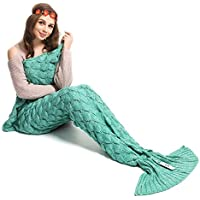 Kpblis Knitted Mermaid Tail 71-Inch-by-35-Inch Blanket...