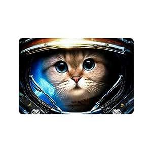 "23.6""(L) X 15,7(W), 3/16"" de grosor, espacio astronauta gato Felpudo de interior/al aire libre Floor Mat"