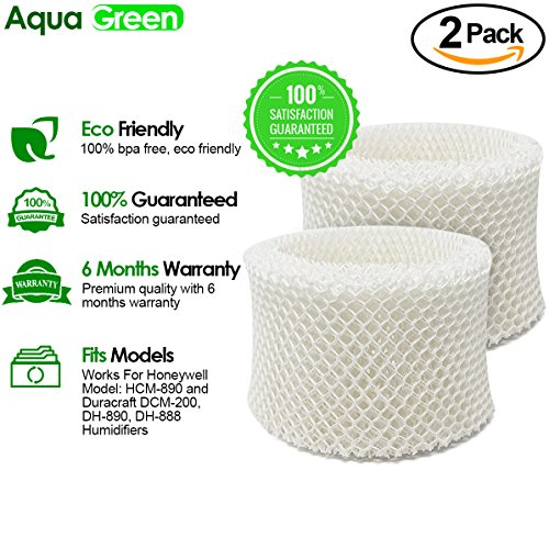 Honeywell HC-888, HC-888N Filter C Compatible Humidifier Filter By Aqua Green 2-pack