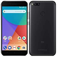 "Xiaomi MI A1 (64GB, 4GB RAM) with Android One & Dual Cameras, 5.5"" Dual SIM Unlocked, Global Version (Black)"