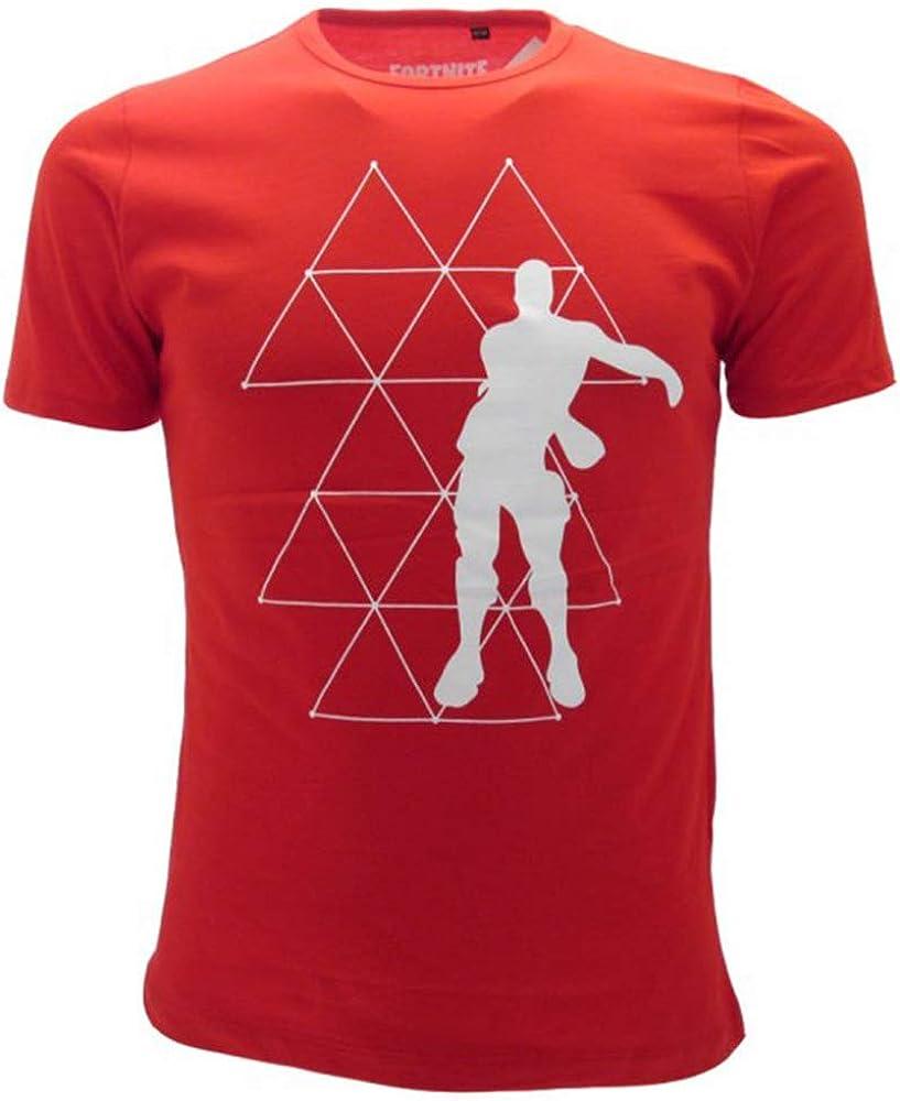 Global Brands Group T-Shirt Originale Dance Floor Bambino Ragazzo Epic Games Maglietta Rossa