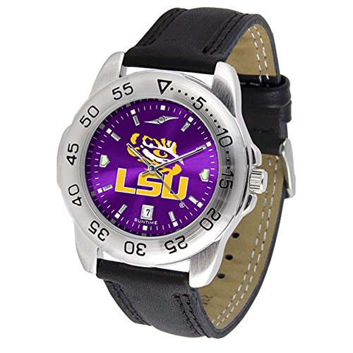New Linkswalker Mens Lsu Tigers Sport Anochrome Watch