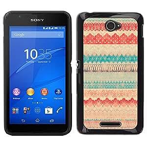 Sony Xperia E4 Único Patrón Plástico Duro Fundas Cover Cubre Hard Case Cover - Polka Dot Pattern Sweater Teal
